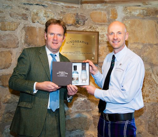 William Wemyss & Douglas Clement at launch of Kingsbarns Distillery Founders' Club