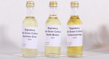 Ayrshire, North British und Cameronbridge Grain Whisky