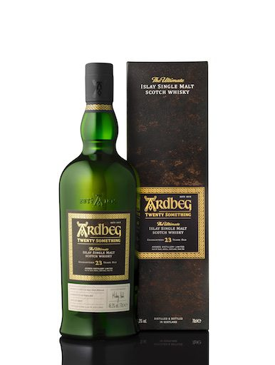 Ardbeg Twenty Something bottle carton white Rights of use editorial content only