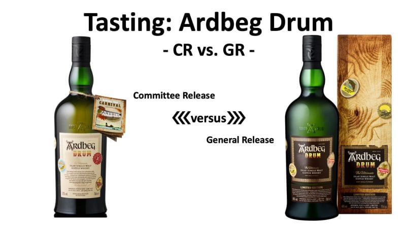 Tasting: Ardbeg Drum CR vs. GR